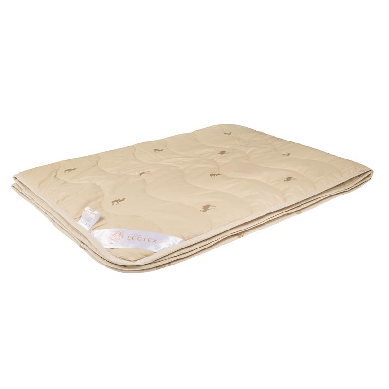 """Одеяло облегченное """"Сафари"""" (верблюжья шерсть, тик) Евро-1 (200*220)"""