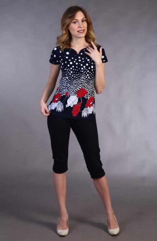 Костюм женский #Маки#, Размер: 50 - Костюмы - Летние костюмы