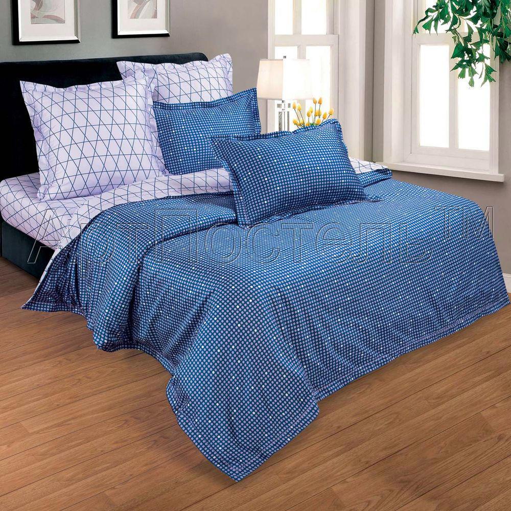 Постельное белье Диамант (макосатин) (2 спальный с Евро простынёй)