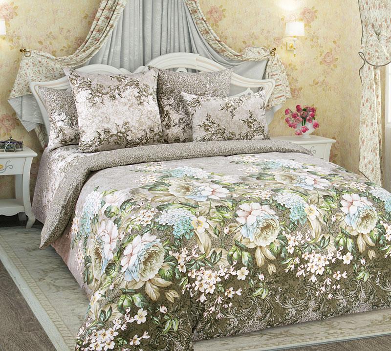 Постельное белье Анна зеленый (перкаль) (2 спальный) постельное белье альба перкаль 2 спальный