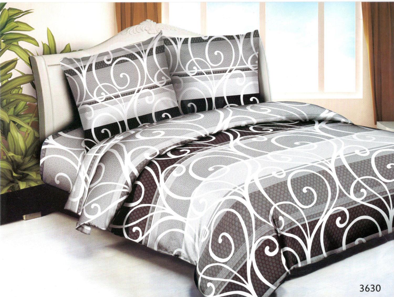 Постельное белье Вензель (полисатин) (1,5 спальный) постельное белье эго комплект 1 5 спальный полисатин