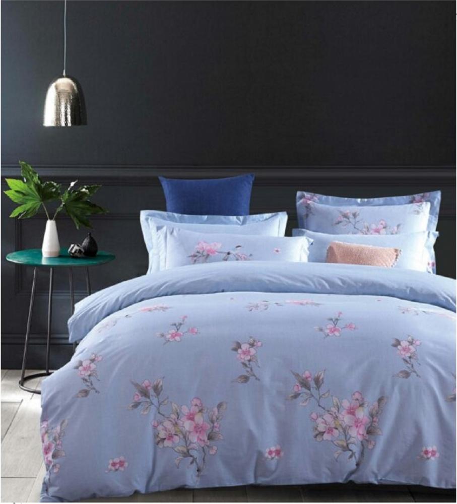 Постельное белье Вишня в цвету (сатин) (2 спальный с Евро простынёй) постельное белье cleo кпб сатин набивной люкс дизайн 200 2 спальный