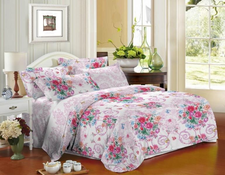 Фото - Постельное белье Малия (сатин) (1,5 спальный) постельное белье этель кружева комплект 2 спальный поплин 2670978