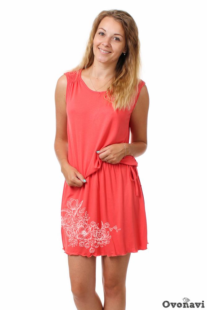 Купить Платье женское Наталия (принт: цветы), Грандсток