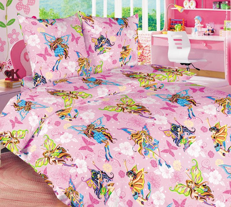 Постельное белье Волшебницы розовый (бязь) (Ясельный) постельное белье трансформеры бязь ясельный