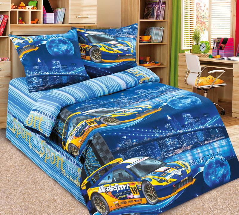 Постельное белье Неон синий (бязь) (Ясельный) постельное белье трансформеры бязь ясельный