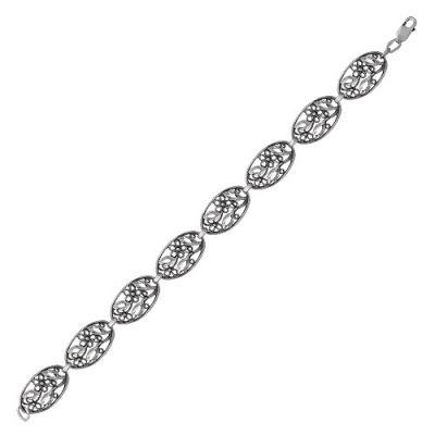 Браслет серебряный 7302268 (18) браслет серебряный 730085б 18