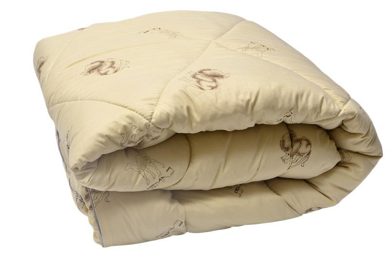 """Одеяло зимнее """"Каракум"""" (верблюжья шерсть, микрофайбер) Евро-1 (200*220)"""