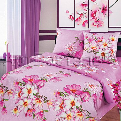 """Постельное белье """"Магнолия"""" розовый (бязь) 2 спальный"""