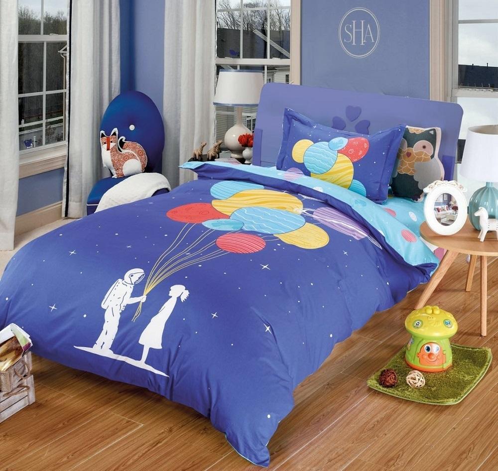 Постельное белье Космический друг (сатин) (1,5 спальный) постельное белье cleo кпб сатин набивной люкс дизайн 355 1 5 спальный