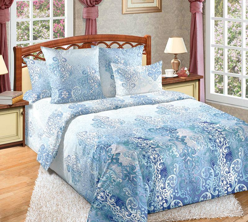 Постельное белье Эффект (перкаль) (2 спальный с Евро простынёй) постельное белье альба перкаль 2 спальный