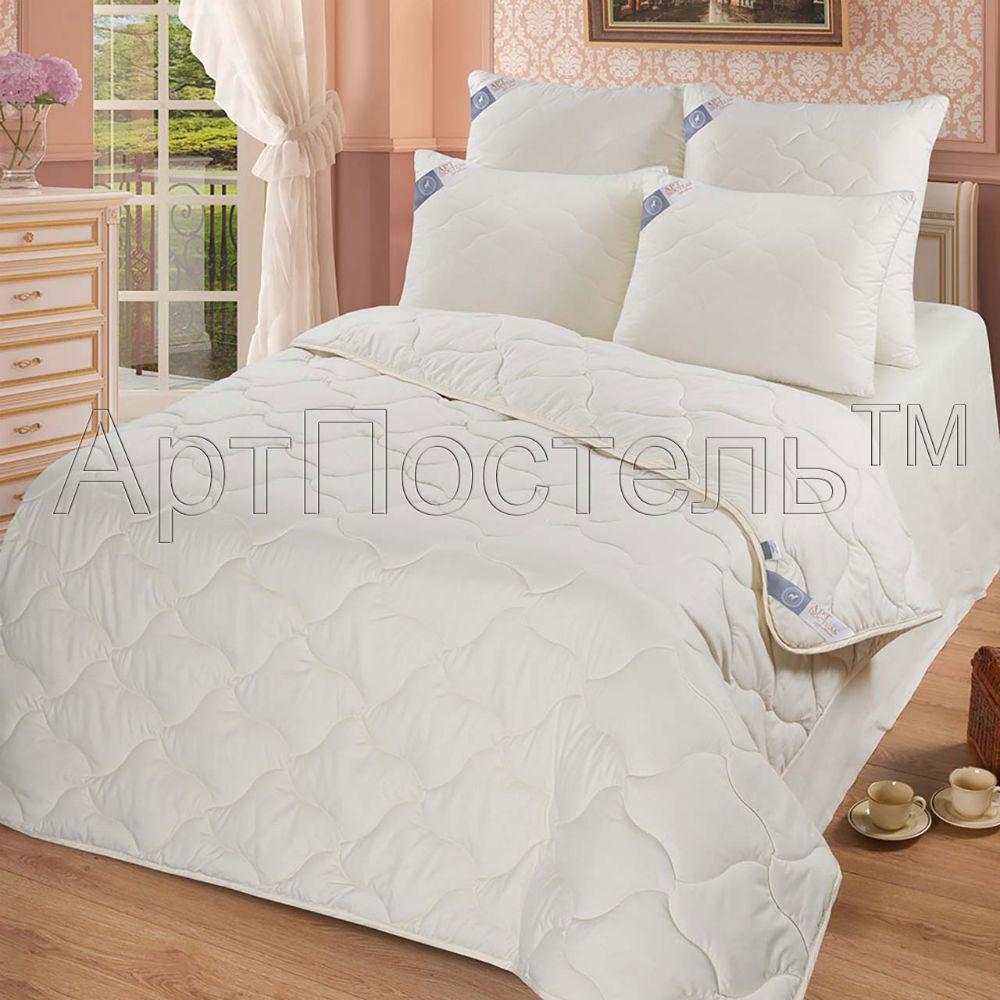 Одеяло зимнее iv20342 (овечья шерсть, микрофибра) (1,5 спальный (140*205))