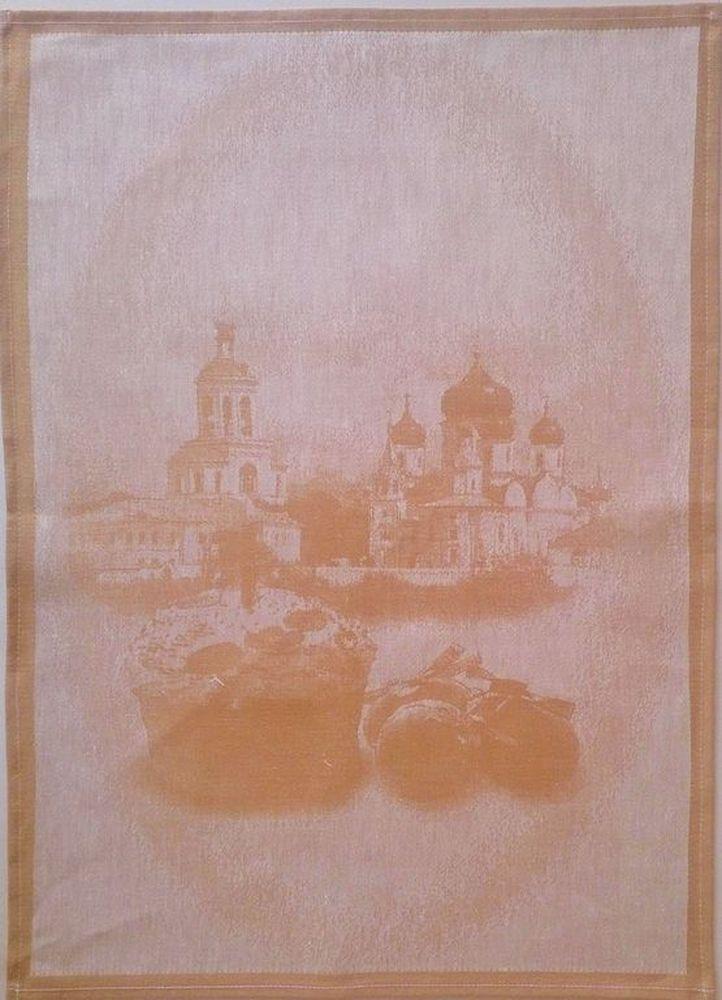 "Кухонное полотенце ""Светлая Пасха"" оранжевое 45х60"