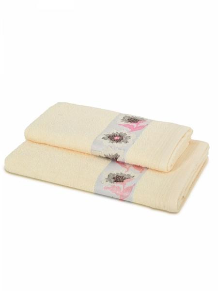 Полотенце махровое Букет (кремовое) (70х140) полотенца lego полотенце ninjago spinjitsu 70х140