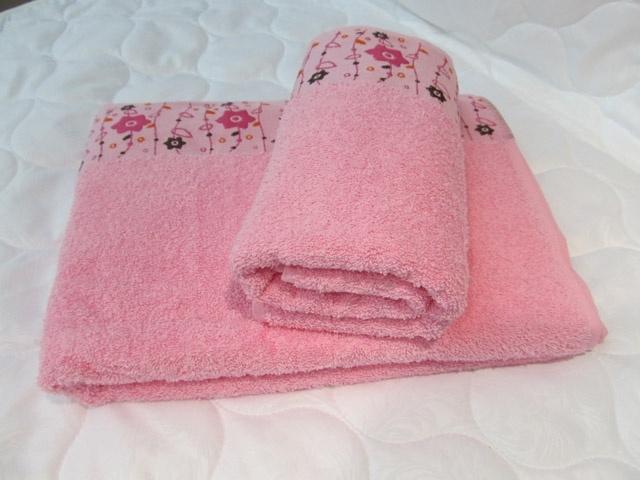 Полотенце махровое Весна (розовое) (70х130) сирень classik б 50х90 70х130 в коробке набор полотенец фиеста