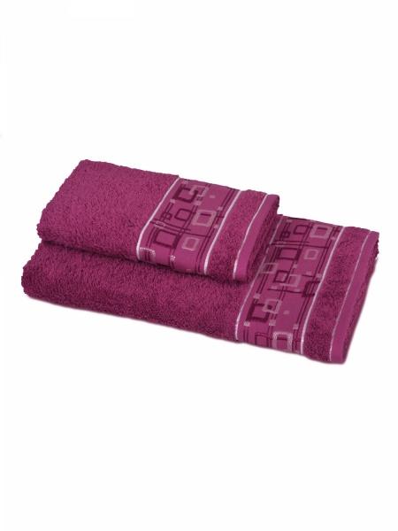 Полотенце махровое Гео (брусничное) (50х90) полотенца philippus полотенце laura 50х90 см 6 шт