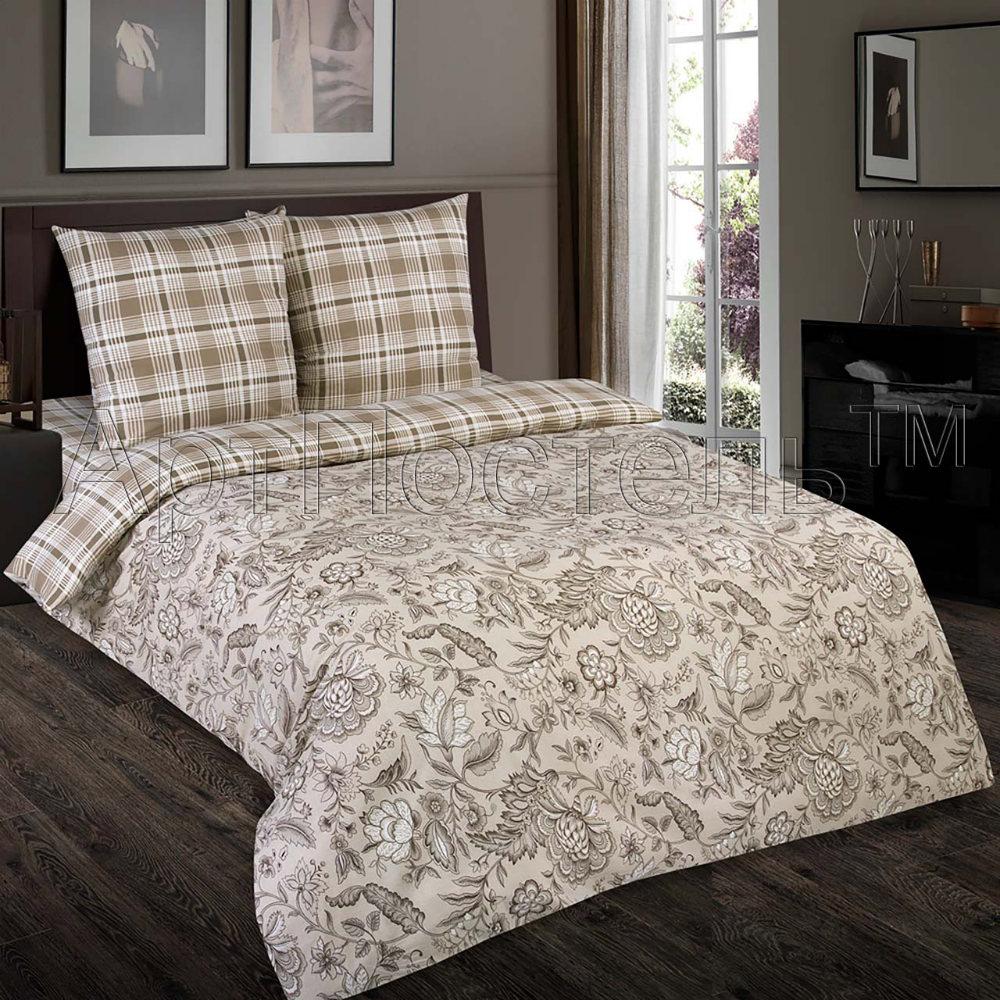 Постельное белье Ода (поплин) (1,5 спальный) постельное белье valtery кпб поплин ap 30 2 спальный