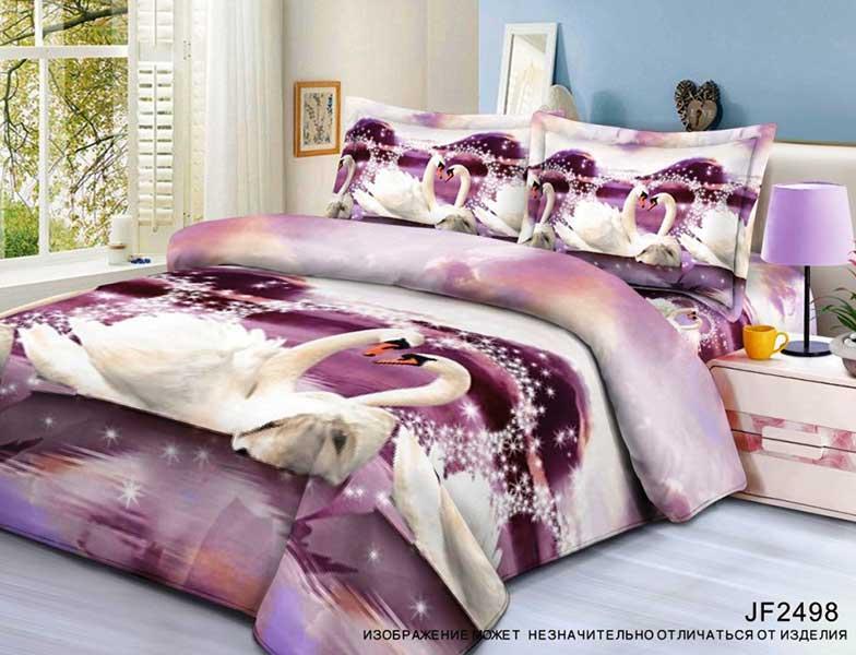 Постельное белье Лебедь (полисатин) (2 спальный) постельное белье cleo кпб полисатин 246 1 5 спальный