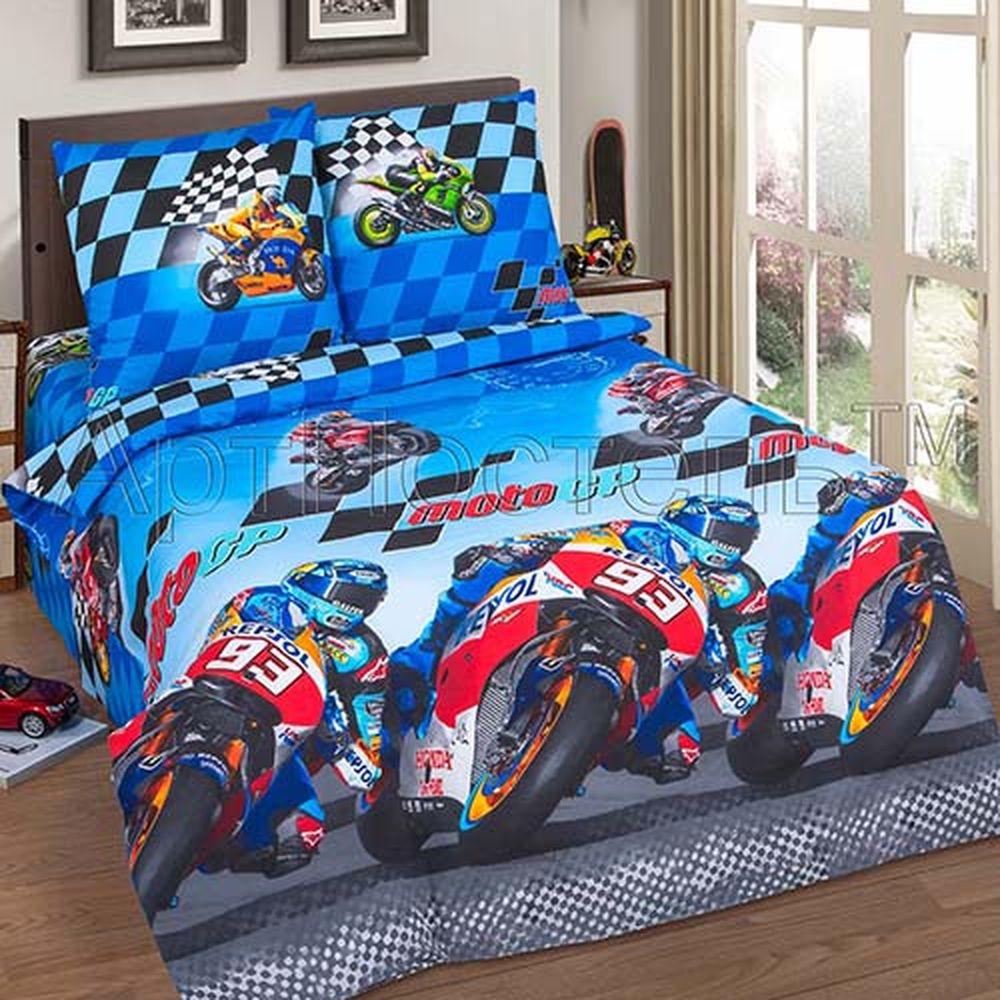 Постельное белье Скорость (поплин) (1,5 спальный) постельное белье дельфины поплин 1 5 спальный