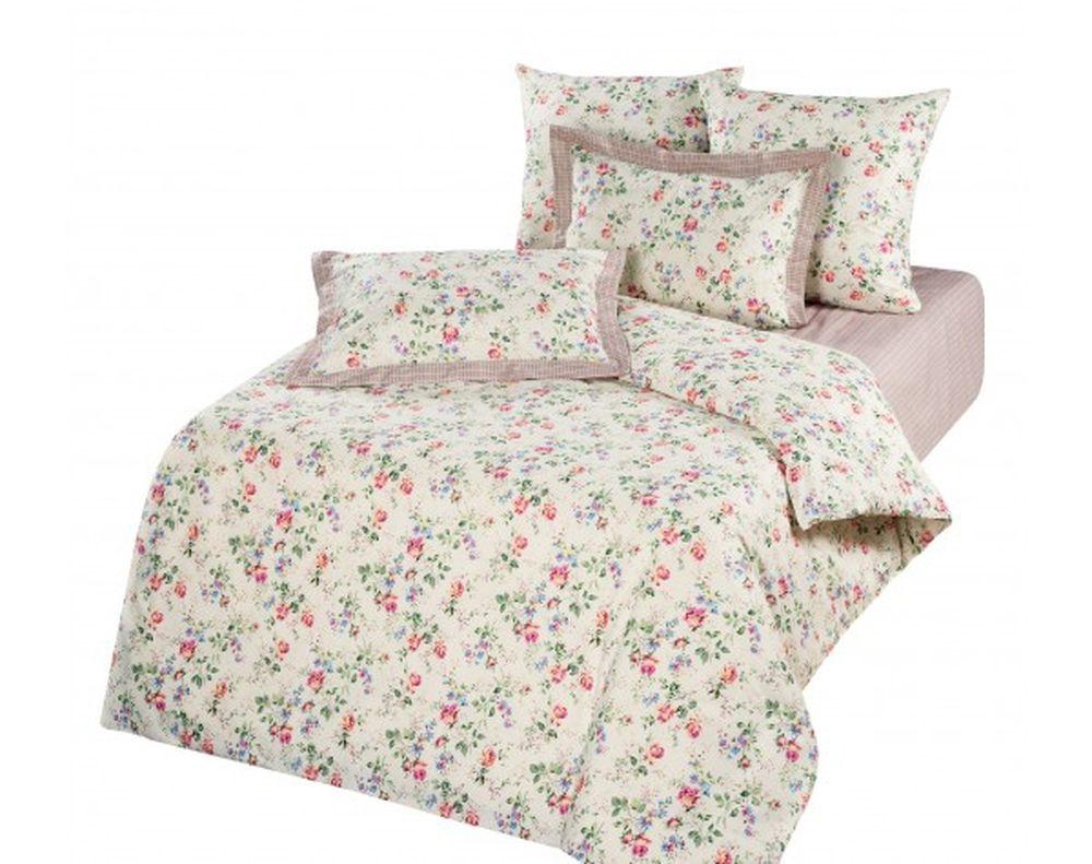 Постельное белье Флора (ранфорс) (1,5 спальный) комплект флора размер 2 0 спальный с европростыней