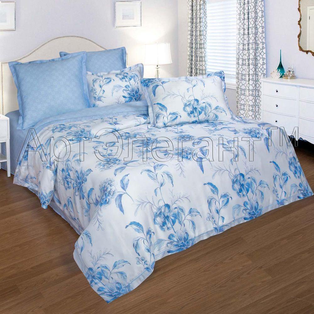 Постельное белье Берта (тенсель) (2 спальный с Евро простынёй)