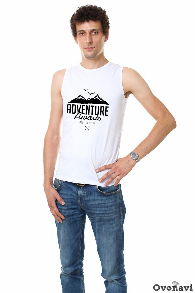 Футболка мужская Джастин (принт: горы) футболка pepe jeans london футболка
