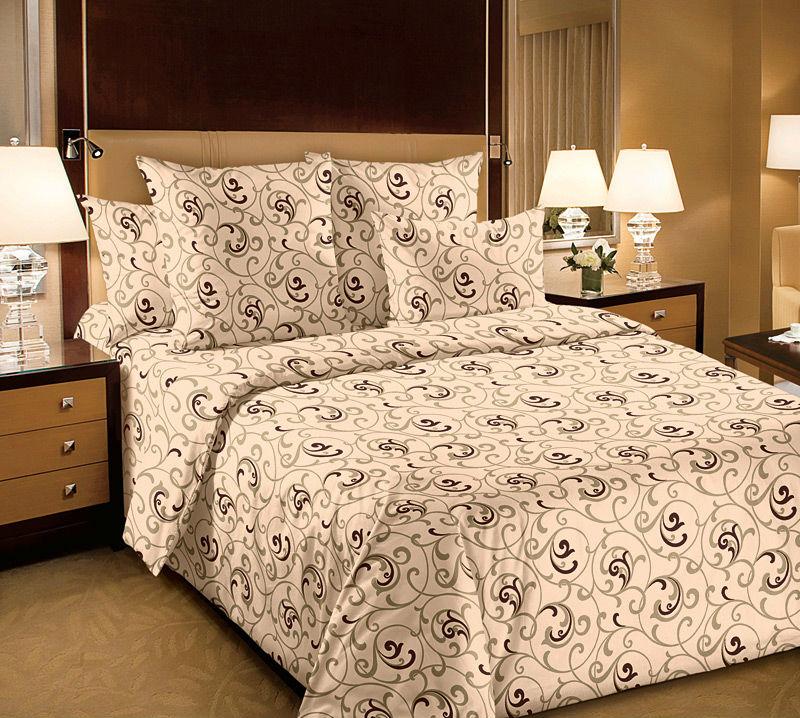 Постельное белье Вензель (перкаль) (2 спальный с Евро простынёй) постельное белье альба перкаль 2 спальный