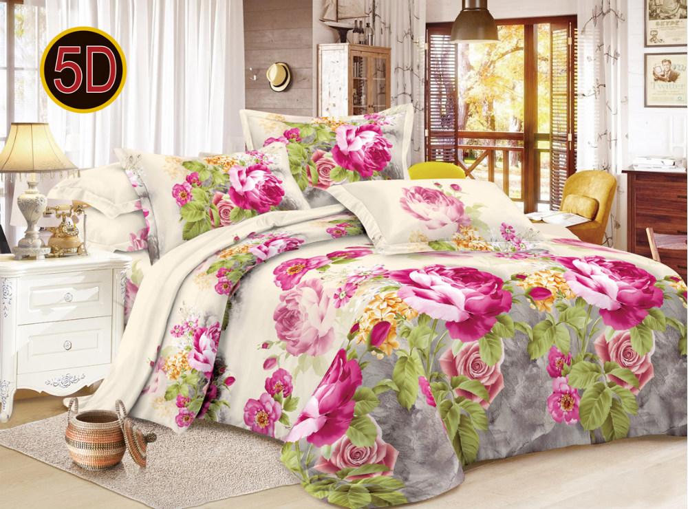 Постельное белье Катерина 5D (полисатин) (1,5 спальный) постельное белье сирень лучшие друзья комплект 1 5 спальный полисатин кпбм 08675