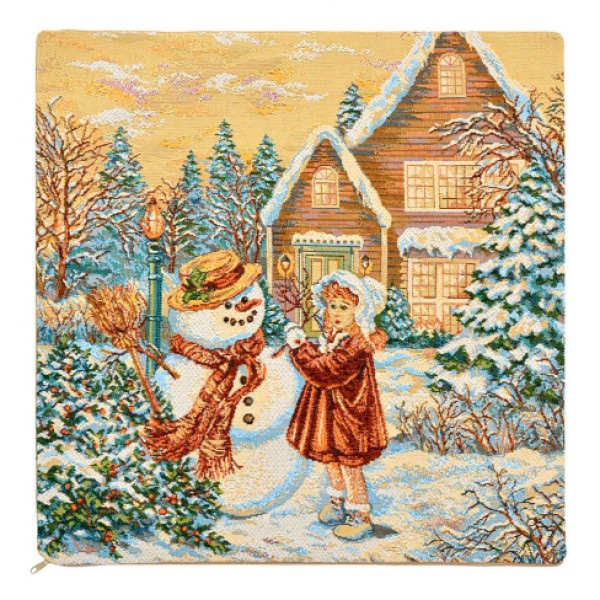 Наволочка декоративная Снеговик и девочка (50*50) abbott shmf 0 9g 50