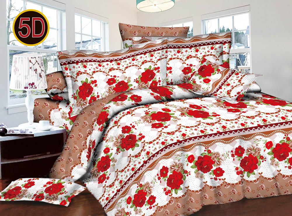 Постельное белье 'Подарок 5D (полисатин) (1,5 спальный) постельное белье эго комплект 1 5 спальный полисатин