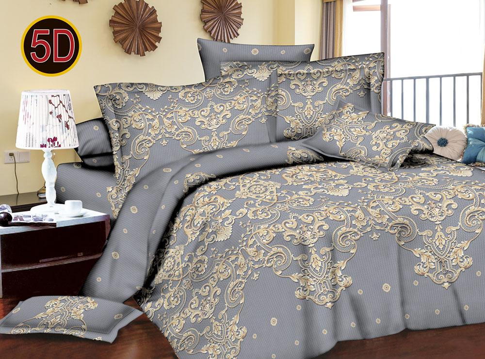 Постельное белье 'Бархат 5D (полисатин) (1,5 спальный) постельное белье эго комплект 1 5 спальный полисатин