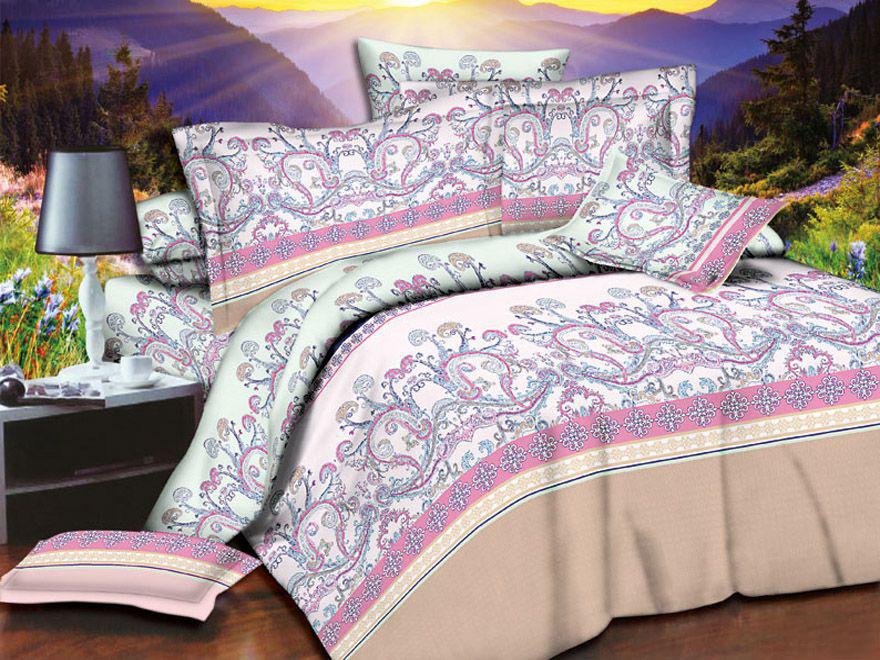 Постельное белье Нимфа 3D (полисатин) (1,5 спальный) постельное белье эго комплект 1 5 спальный полисатин