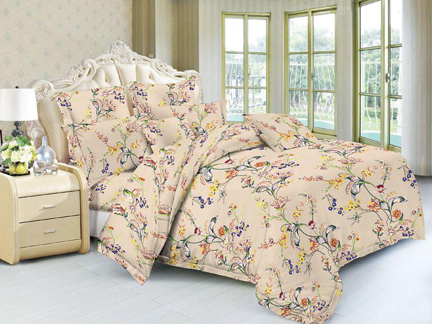 Постельное белье Овелис (полисатин) (1,5 спальный) постельное белье эго комплект 1 5 спальный полисатин