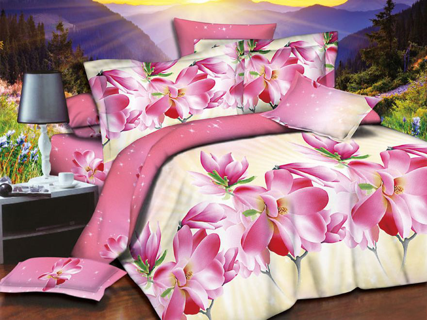 Постельное белье Розэбель 3D (полисатин) (1,5 спальный) постельное белье эго комплект 1 5 спальный полисатин