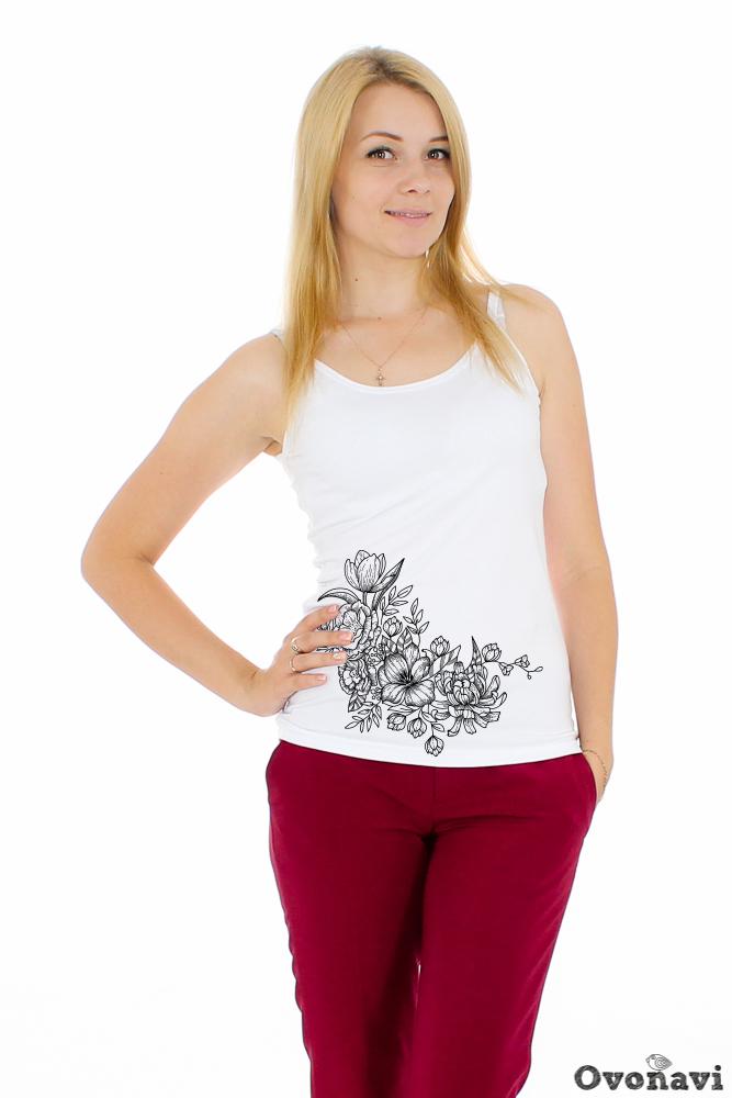 Купить Майка женская Светлана (принт: цветы), Грандсток