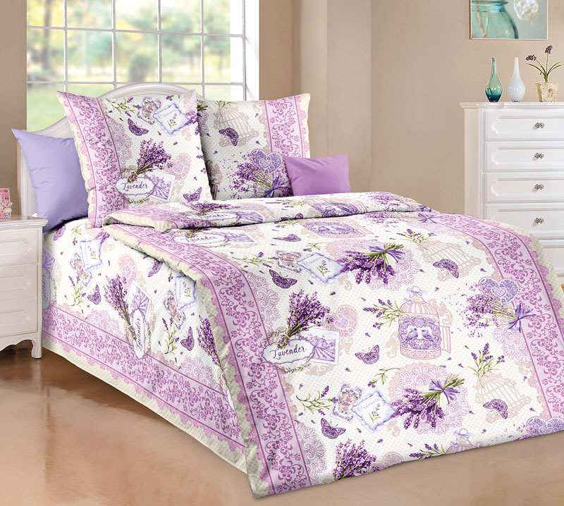 Постельное белье Лаванда (бязь) (1,5 спальный) постельное белье жаркое лето бязь 1 5 спальный