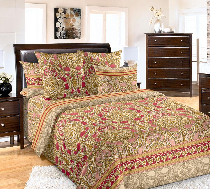 """Постельное белье """"Дамаск"""" (бязь) 2 спальный с Евро простынёй"""