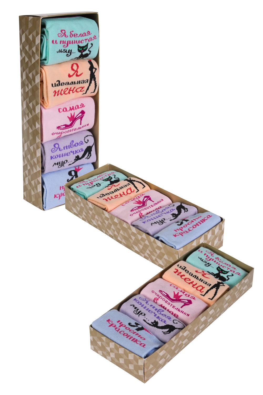 Купить Носки женские Очарование (упаковка 3 пары) 23-25, Грандсток