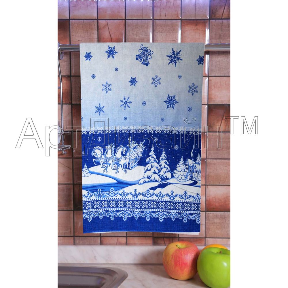 "Кухонное полотенце ""Снежные узоры"" 50х70"