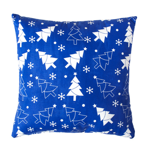 Подушка декоративная Новый год синий (40*40) 40