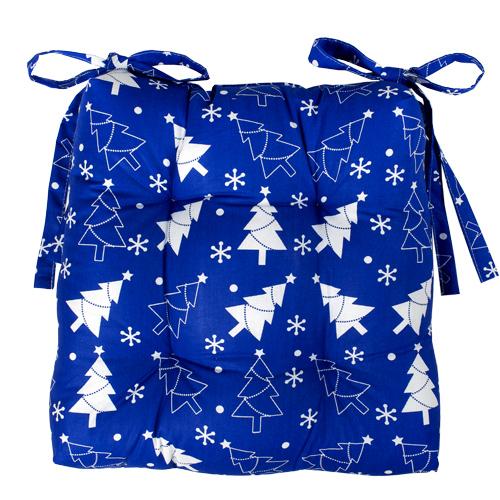 Чехол на стул Новый год (синий) (40*40) yunxsh синий 40