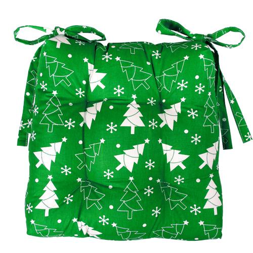 Чехол на стул Новый год (зеленый) (40*40) lavera 40