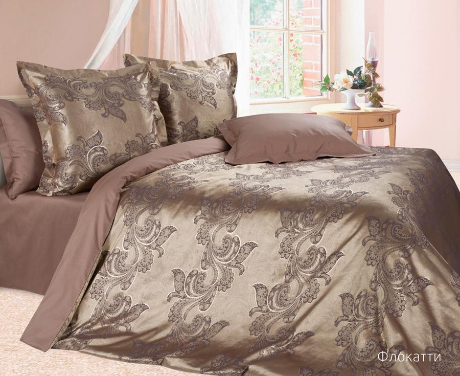 Постельное белье Флокатти (сатин-жаккард) (2 спальный с Евро простынёй)