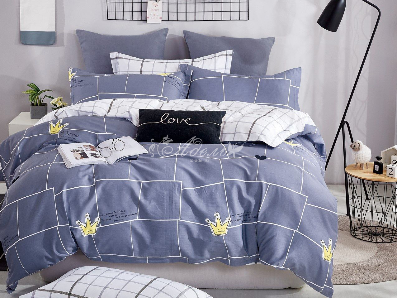 Фото - Постельное белье iv77207 (сатин) (1,5 спальный) постельное белье iv69054 сатин 1 5 спальный