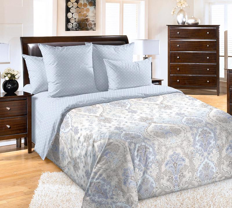 Постельное белье Люкс (перкаль) (1,5 спальный) постельное белье cleo кпб сатин набивной люкс дизайн 406 1 5 спальный