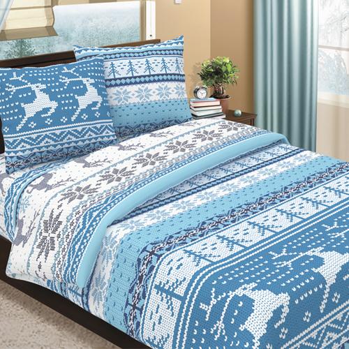 Постельное белье Аляска голубой (бязь) (1,5 спальный) спальный мешок аляска expert 250х90см 10 с цвет серый терракотовый