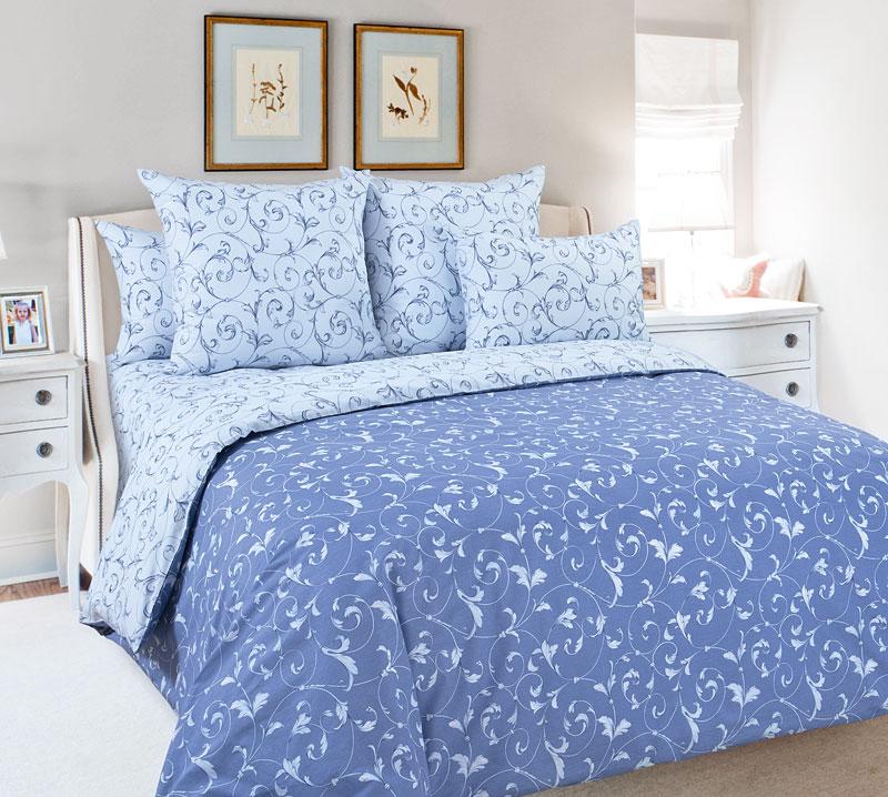 Постельное белье Габриэль голубой (перкаль) (2 спальный) постельное белье verossa constante magnolia комплект 2 спальный перкаль 707017