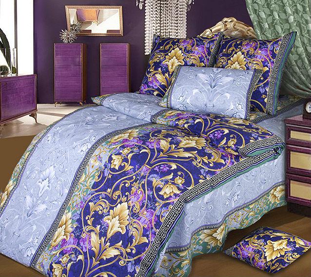 """Постельное белье """"Шик"""" голубой (бязь) 1,5 спальный"""