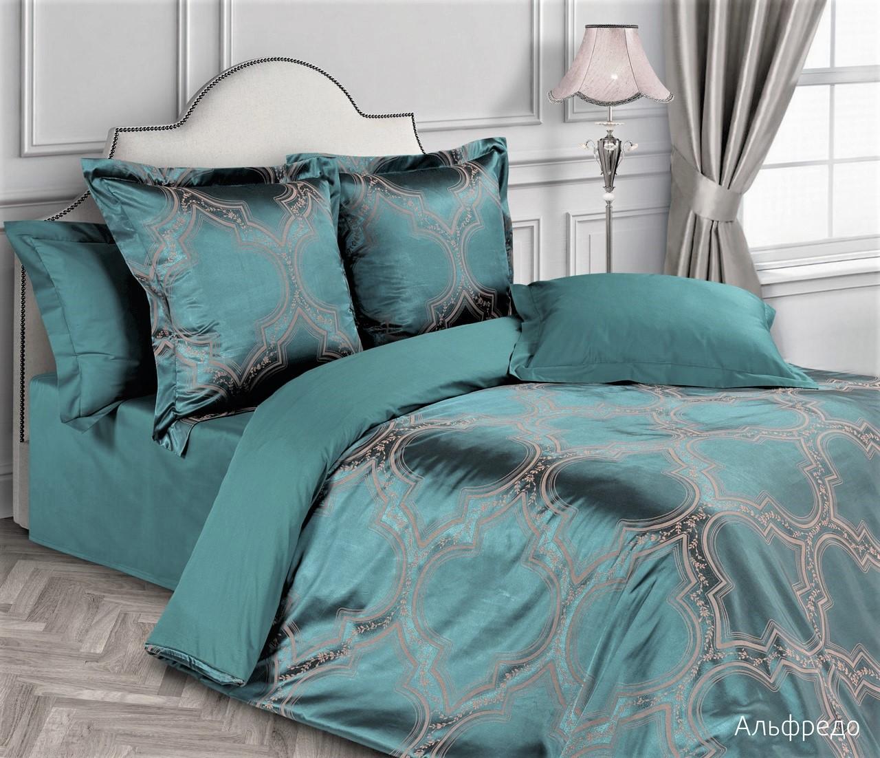 Постельное белье Альфредо (сатин-жаккард) (2 спальный с Евро простынёй) постельное белье cleo кпб сатин набивной люкс дизайн 326 2 спальный
