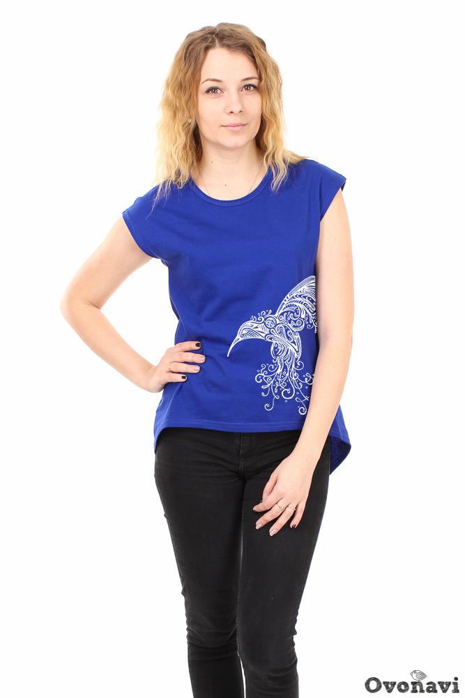 Футболка женская Облако (принт: колибри) футболка женская калина принт колибри